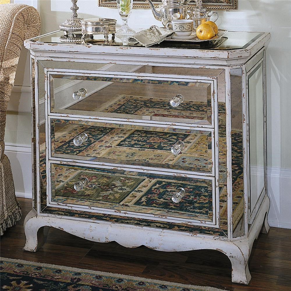 Genial Chests And Consoles French Mirrored Chest With 3 Drawers By Hooker Furniture