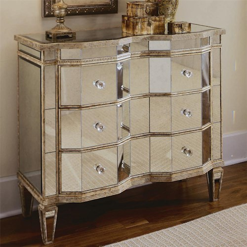 Hamilton Home Chests and Consoles Mirrored Chest with 3 Drawers