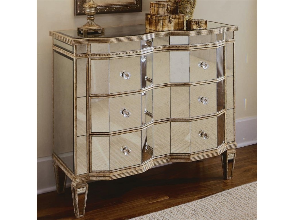 Furniture Chests And Consolesmirrored Three Drawer Chest