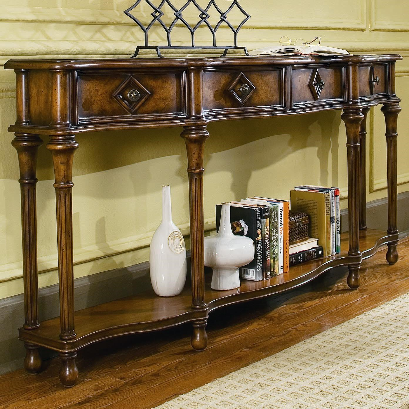 Marvelous Hooker Furniture Chests And Consoles 72 Inch Hall Console With Four Drawers