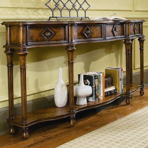 Hooker Furniture Chests and Consoles 72-Inch Hall Console with Four Drawers