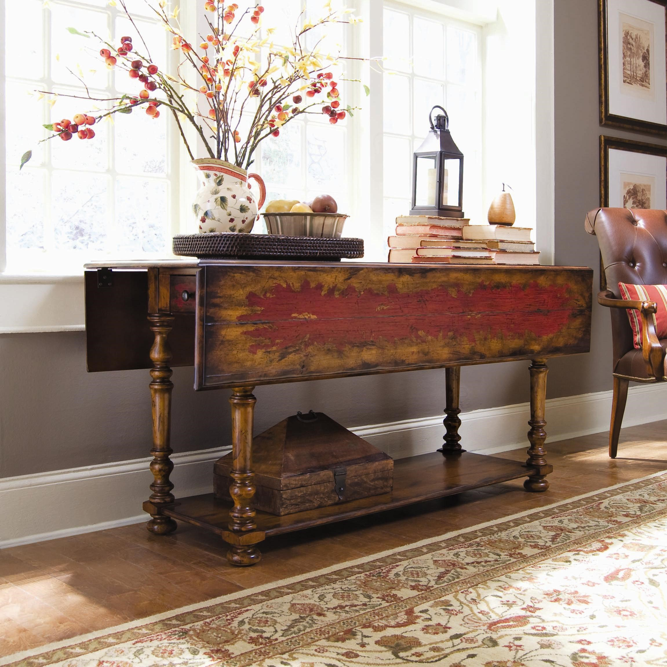 hooker furniture chests and consoles 978 50 001 casual table w drop rh dunkandbright com drop leaf sofa table antique drop leaf sofa table antique