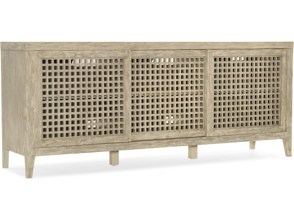 Hooker Furniture Ciao Bella Rustic Entertainment Console With Outlet