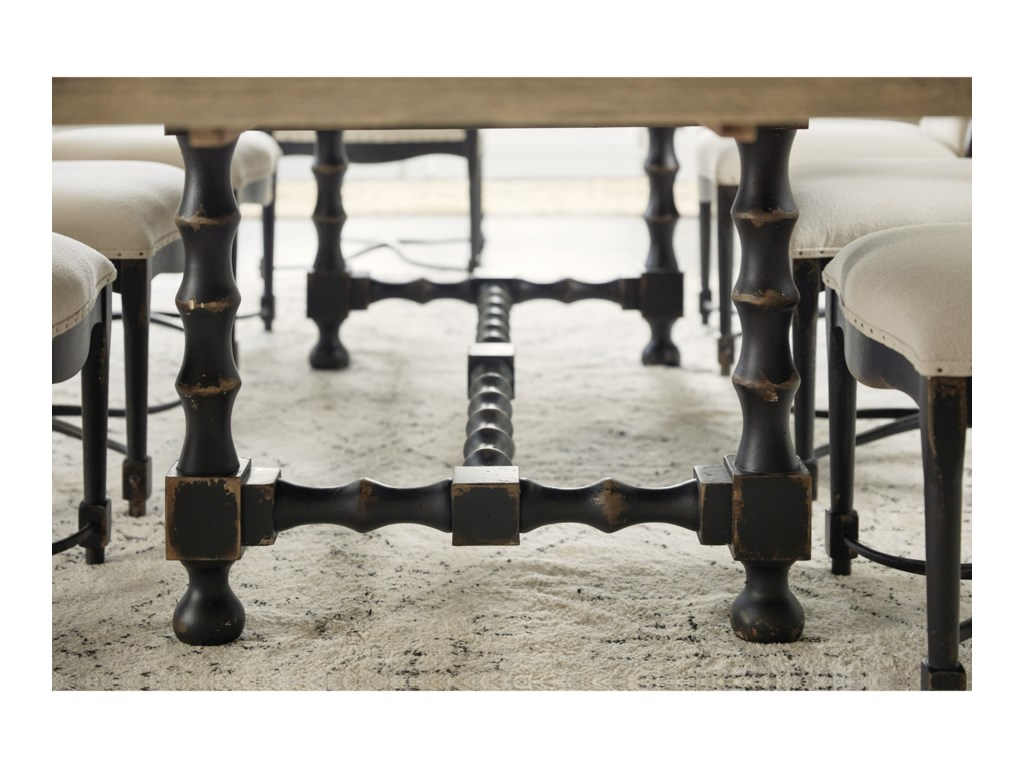 Hooker Furniture Ciao Bella84in Trestle Table with Leaves