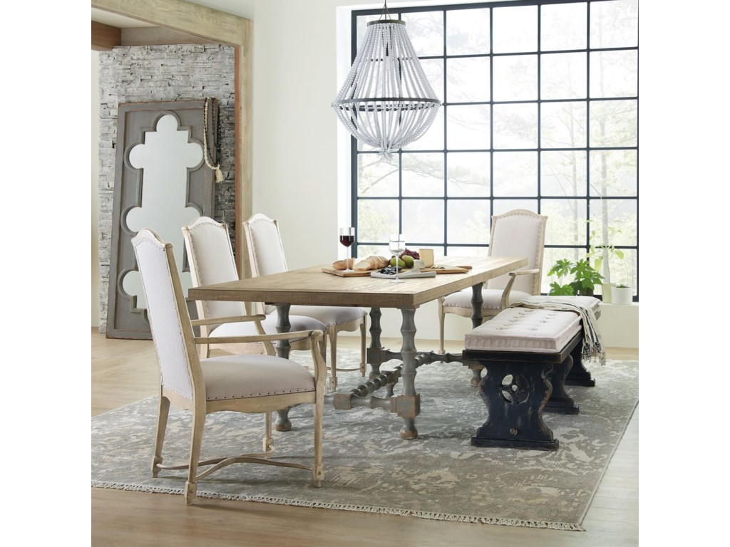 Hooker Furniture Ciao Bella6-Piece Table and Chair Set with Bench