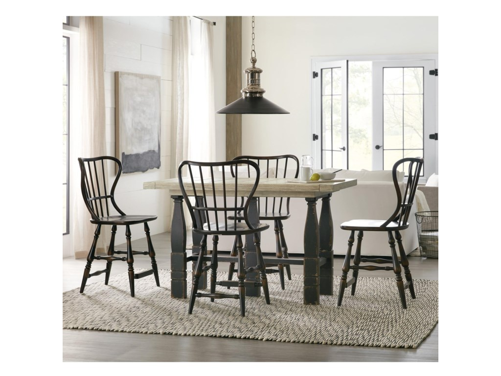 Hooker Furniture Ciao Bella5-Piece Counter Pub Table Set