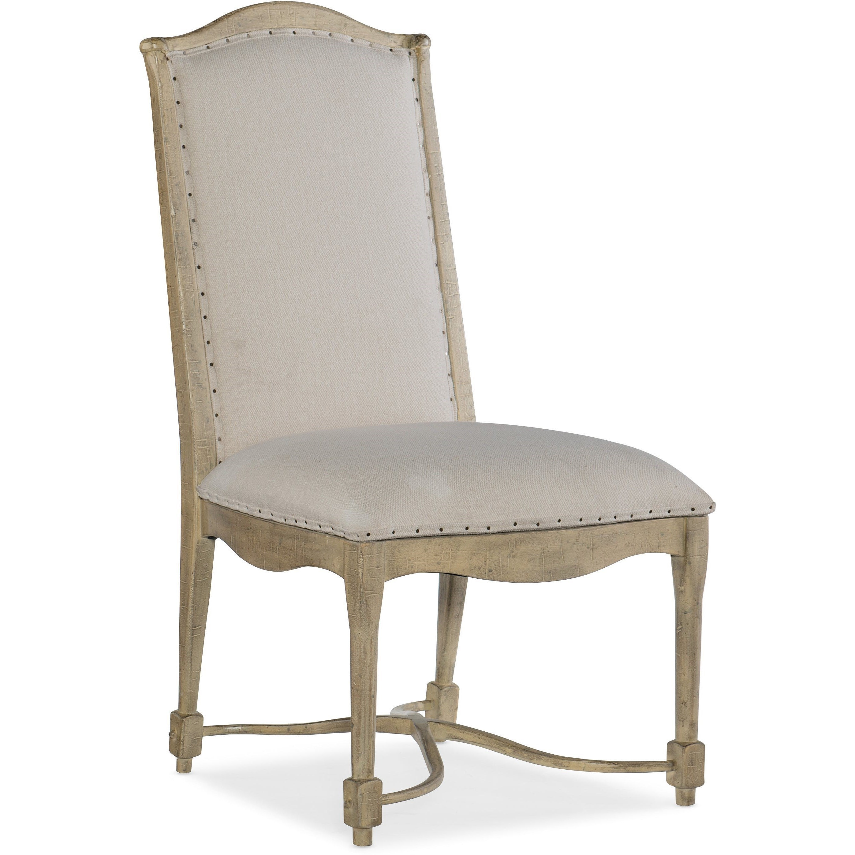 Rustic Upholstered Back Side Chair