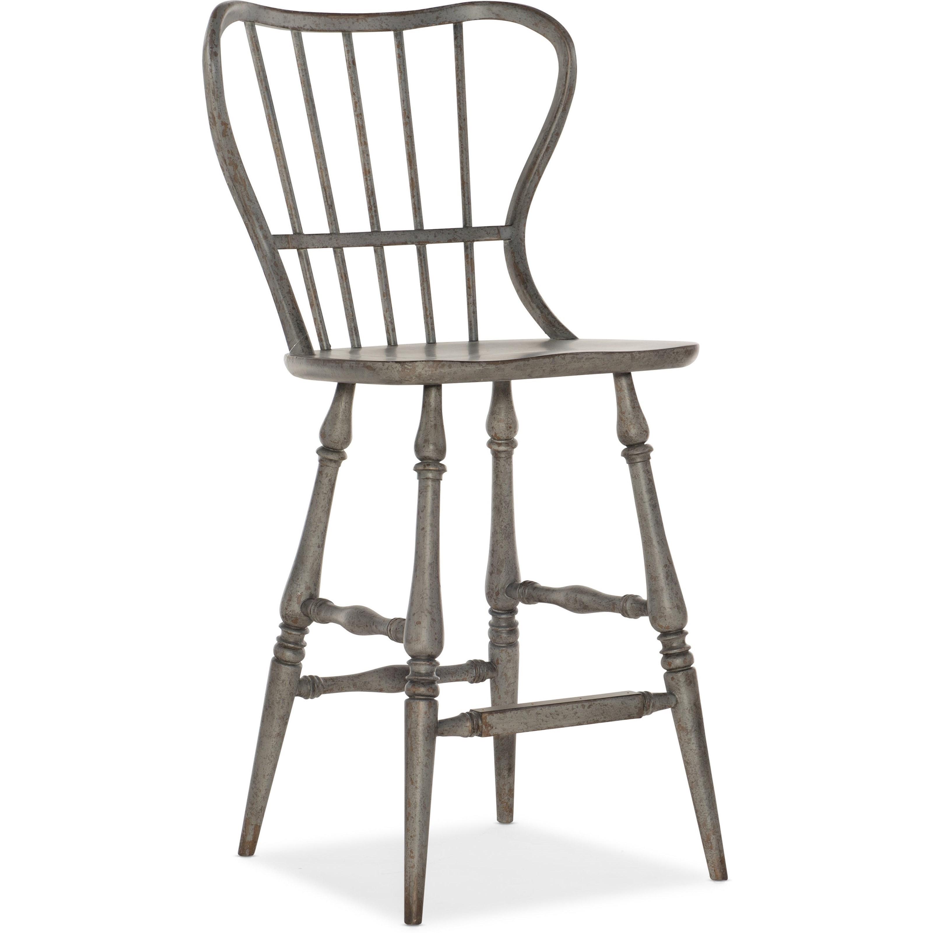Hooker Furniture Ciao Bella Rustic Spindle Back Bar Stool Wayside Furniture Bar Stools