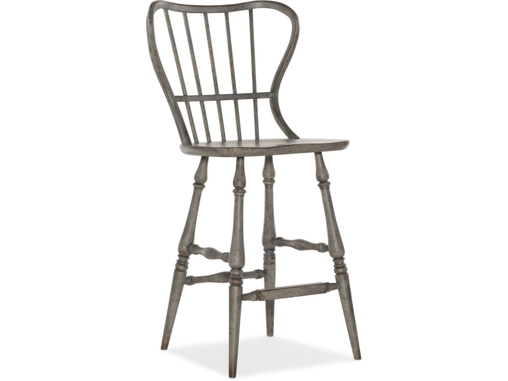 Hooker Furniture Ciao BellaSpindle Back Bar Stool