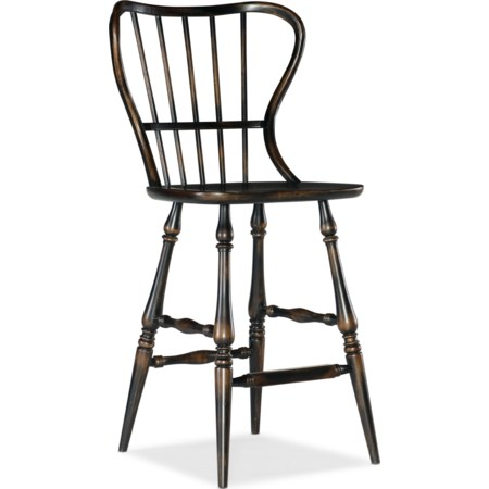Spindle Back Bar Stool