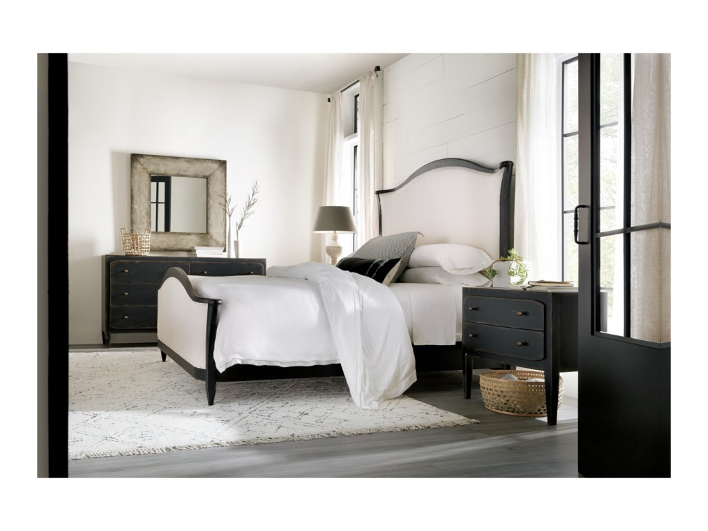 Hooker Furniture Ciao BellaQueen Upholstered Bed