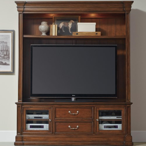 Hooker Furniture Clermont Two Piece Entertainment Group with 2 Drawers
