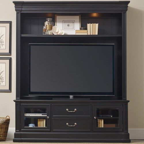 Hamilton Home Clermont Two Piece Entertainment Group with 2 Drawers