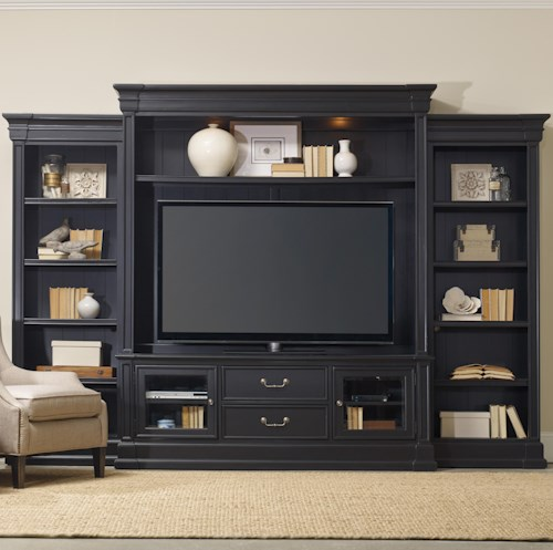 Hamilton Home Clermont Four Piece Entertainment Group with 2 Drawers