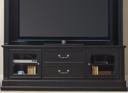 Hamilton Home Clermont Entertainment Console with 2 Beveled Glass Doors