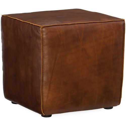 Hooker Furniture CO39 Contemporary Quebert Leather Cube Ottoman