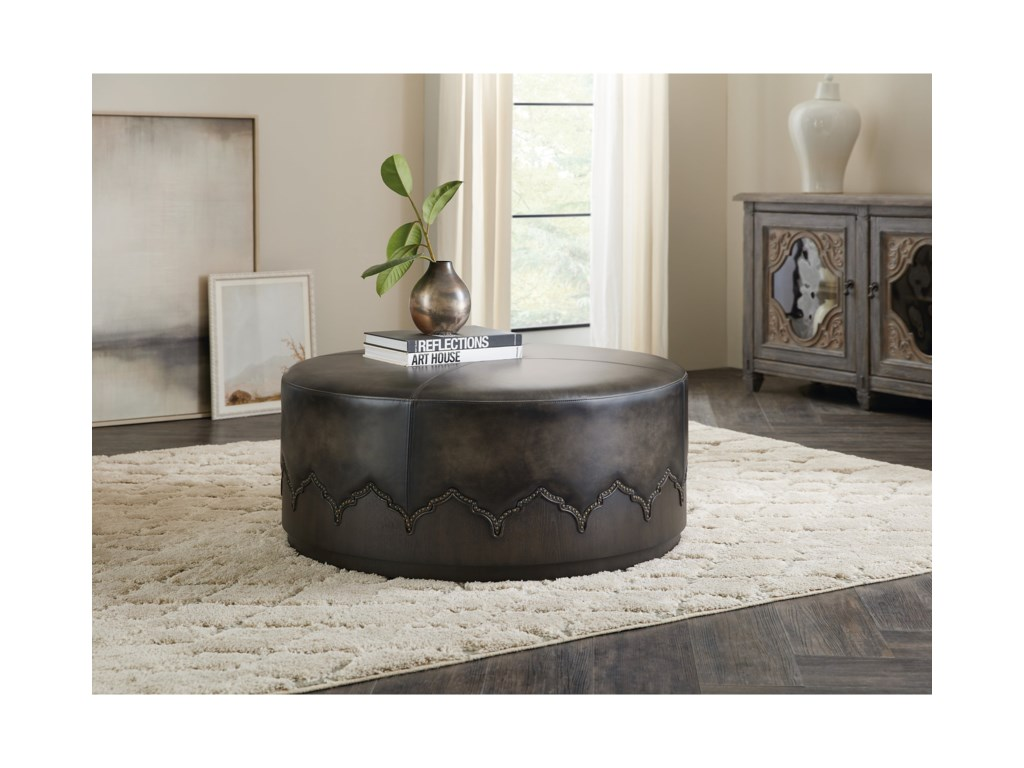 Hooker Furniture Cocktail OttomansMiles Cocktail Ottoman w/ Casters
