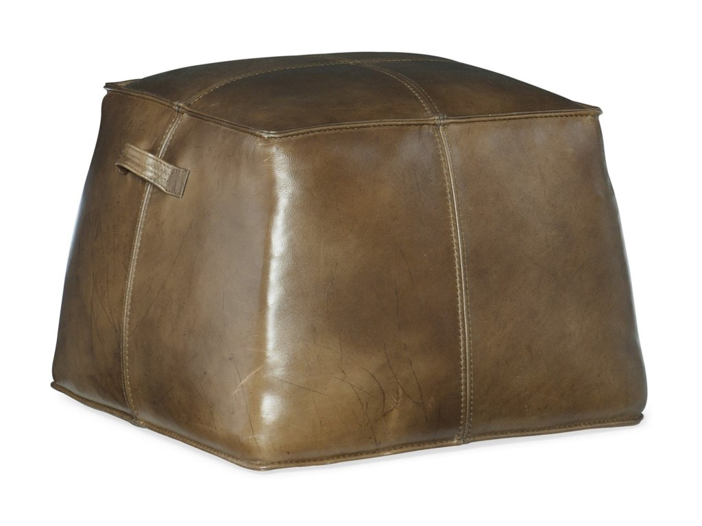 Hooker Furniture Cocktail OttomansBirks Large Leather Ottoman
