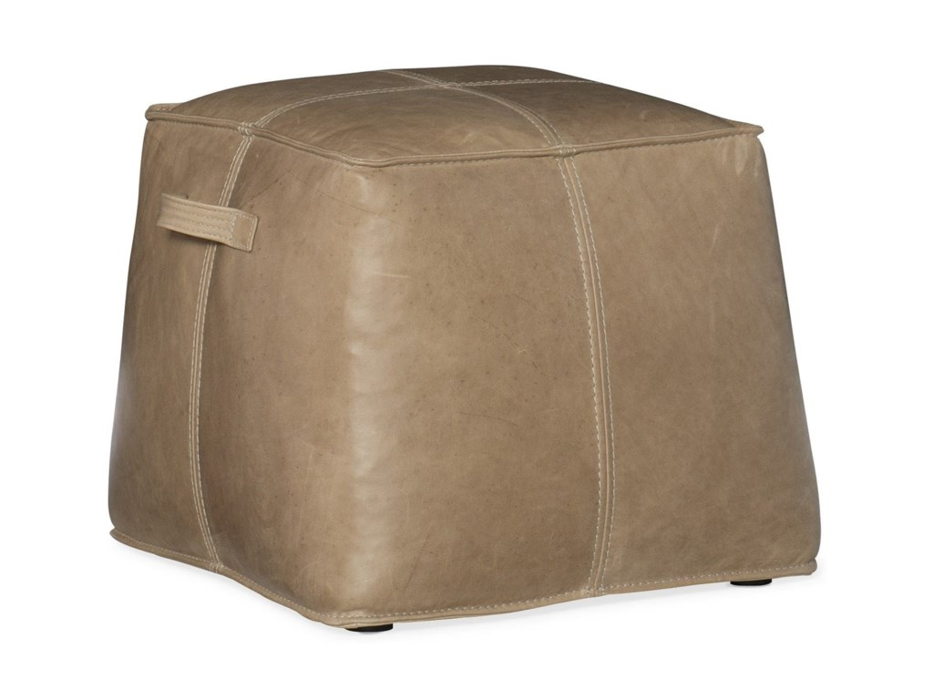 Hooker Furniture Cocktail OttomansDizzy Small Leather Ottoman
