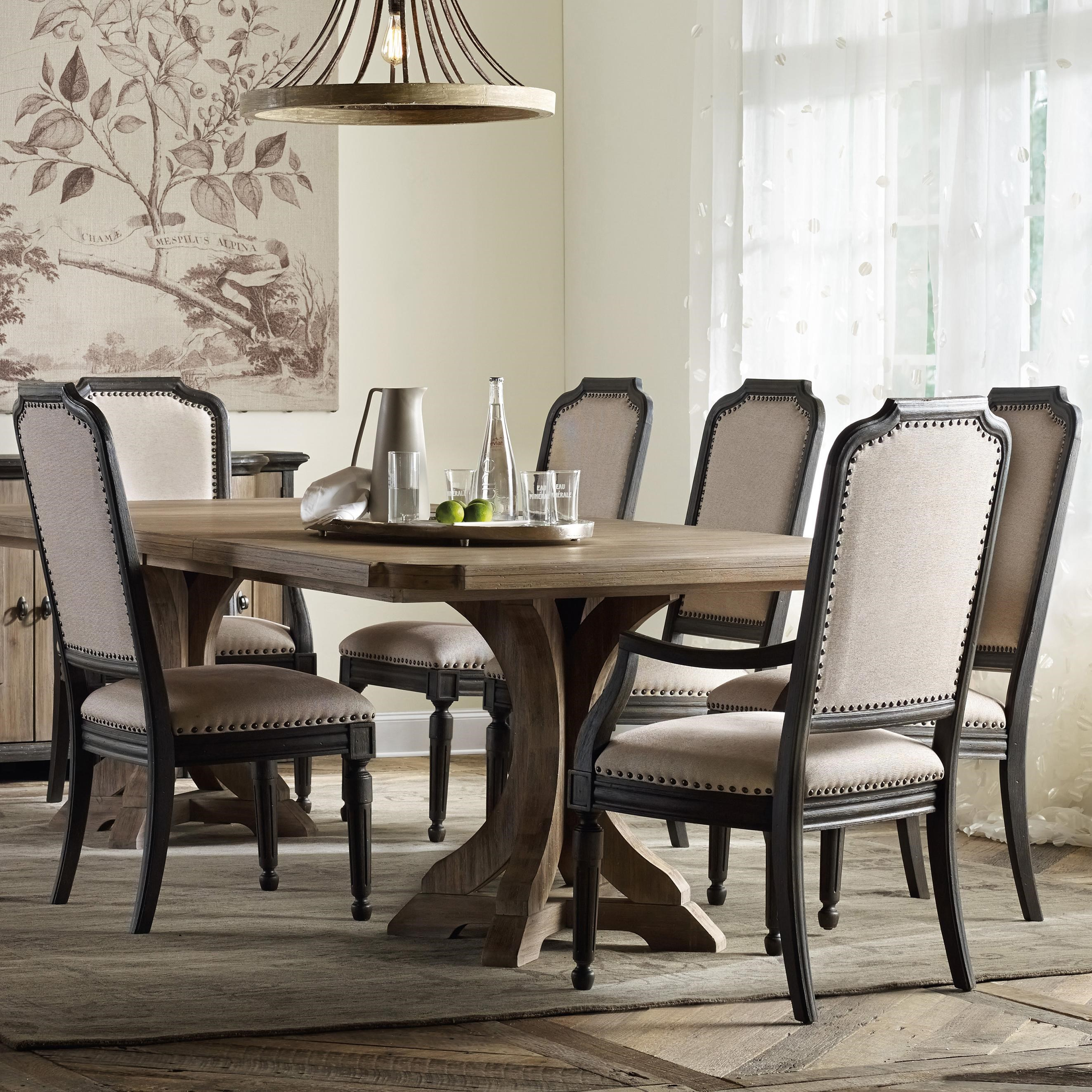 hooker furniture corsica rectangle pedestal dining table set with rh belfortfurniture com