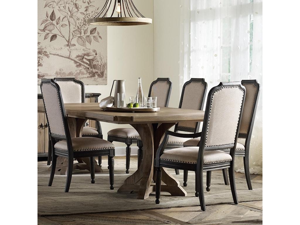 Hooker Furniture CorsicaRectangle Pedestal Dining Table Set