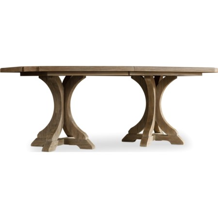 Rectangle Pedestal Dining Table