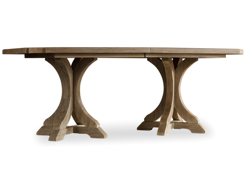 Hooker Furniture CorsicaRectangle Pedestal Dining Table