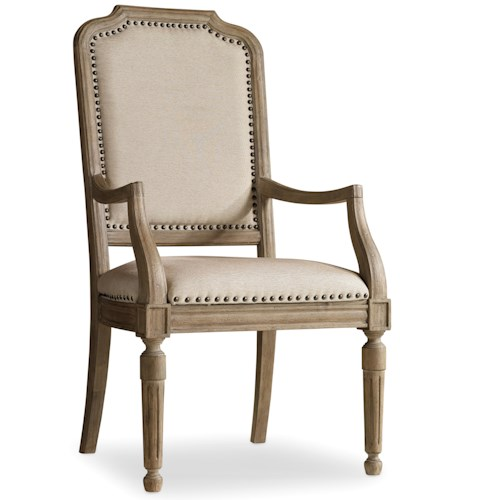 Hamilton Home Corsica Upholstered Arm Chair with Nailhead Trim