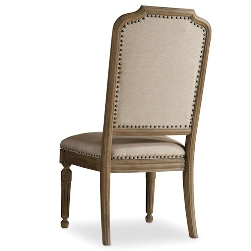 Hamilton Home Corsica Upholstered Side Chair with Nailhead Trim