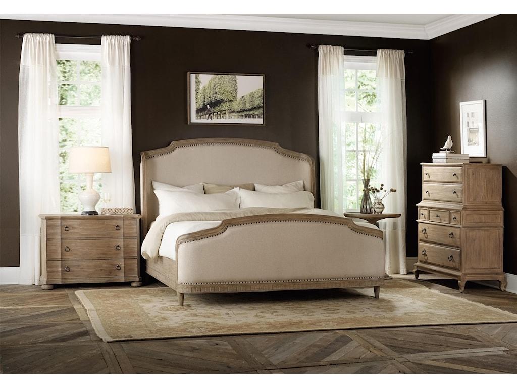 Hooker Furniture CorsicaCalifornia King Upholstered Shelter Bed