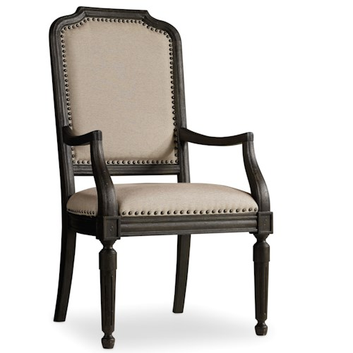 Hooker Furniture Corsica Upholstered Arm Chair with Nailhead Trim