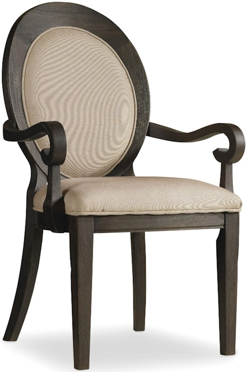 Hooker Furniture Corsica 5280 75402 Oval Back Arm Chair