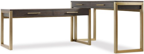 Hooker Furniture Curata Modern Two Piece Desk Group