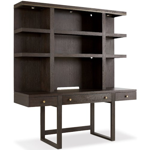 Hooker Furniture Curata Wall Desk with Lighted Hutch