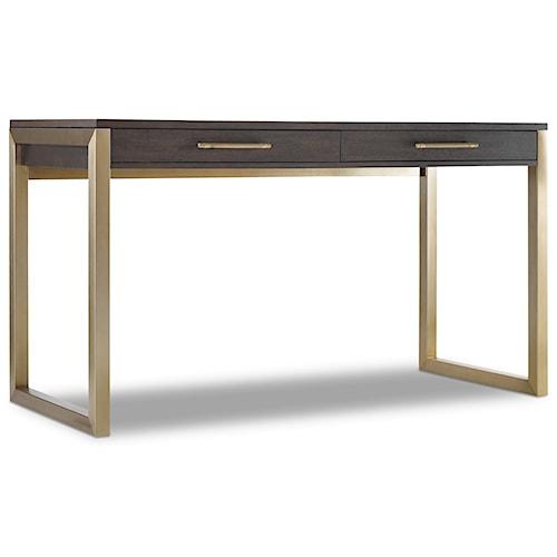 Hooker furniture curata tall modern wooden writing desk wayside furniture table desks - Tall office desk ...