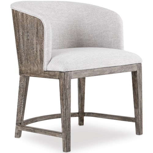 Hooker Furniture Curata Upholstered Chair with Wood Back