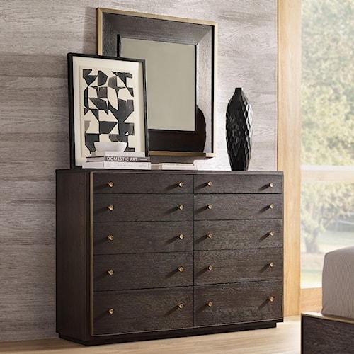 Hooker Furniture Curata Bureau and Square Mirror Set