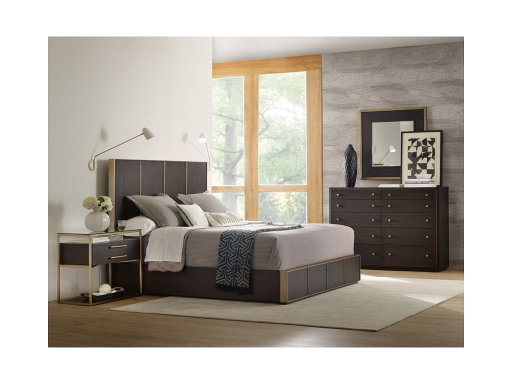 Hooker Furniture CurataModern Queen Low Bed