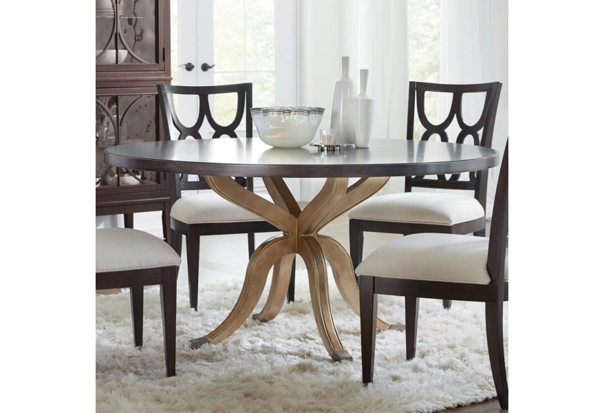 Curvee Glam 60 inch Round Dining Table by Hooker Furniture at Dunk & Bright  Furniture
