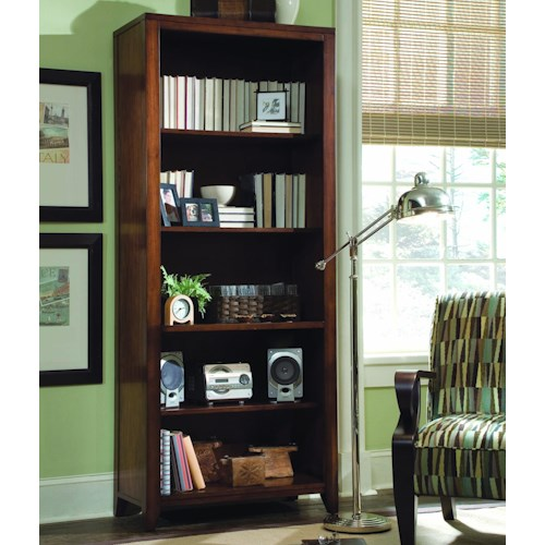 Hooker Furniture Danforth Open Bookcase w/ 4 Shelves