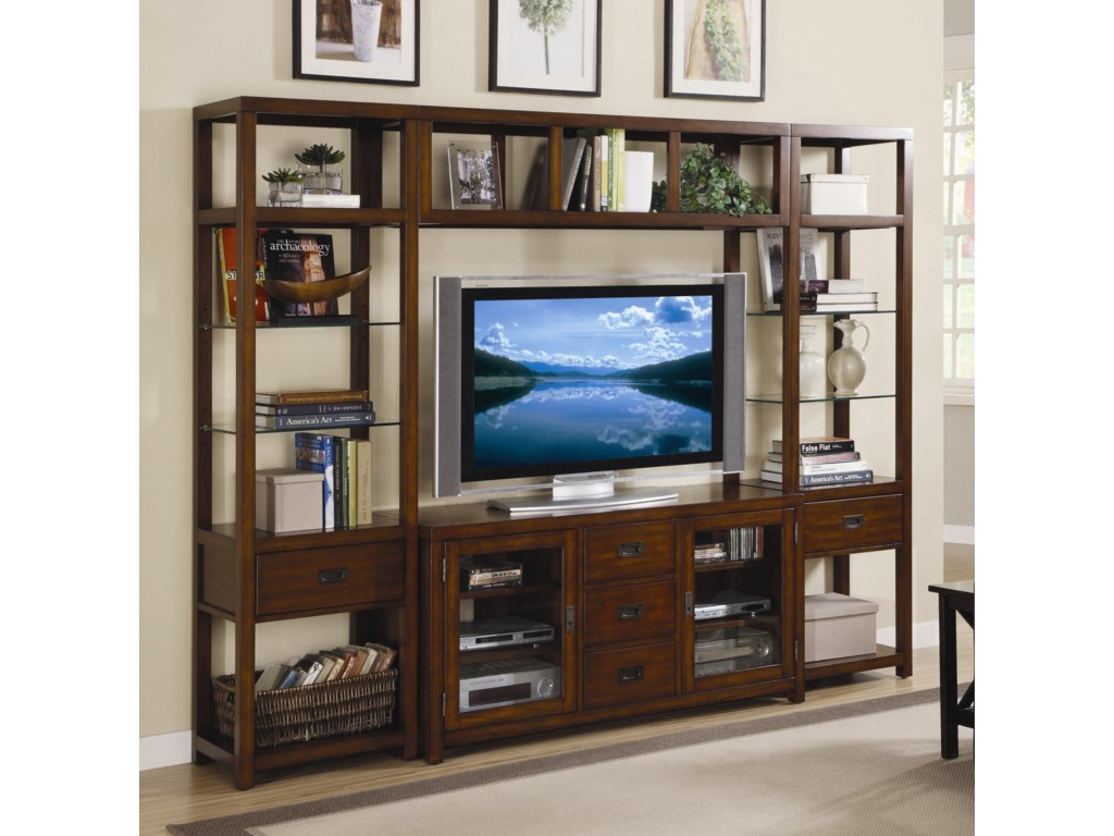 Hooker Furniture Danforth Open Entertainment Wall Unit | Stoney ...