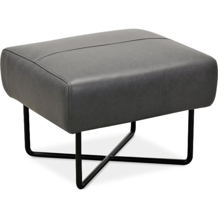 Ottoman w/ Black Metal Base