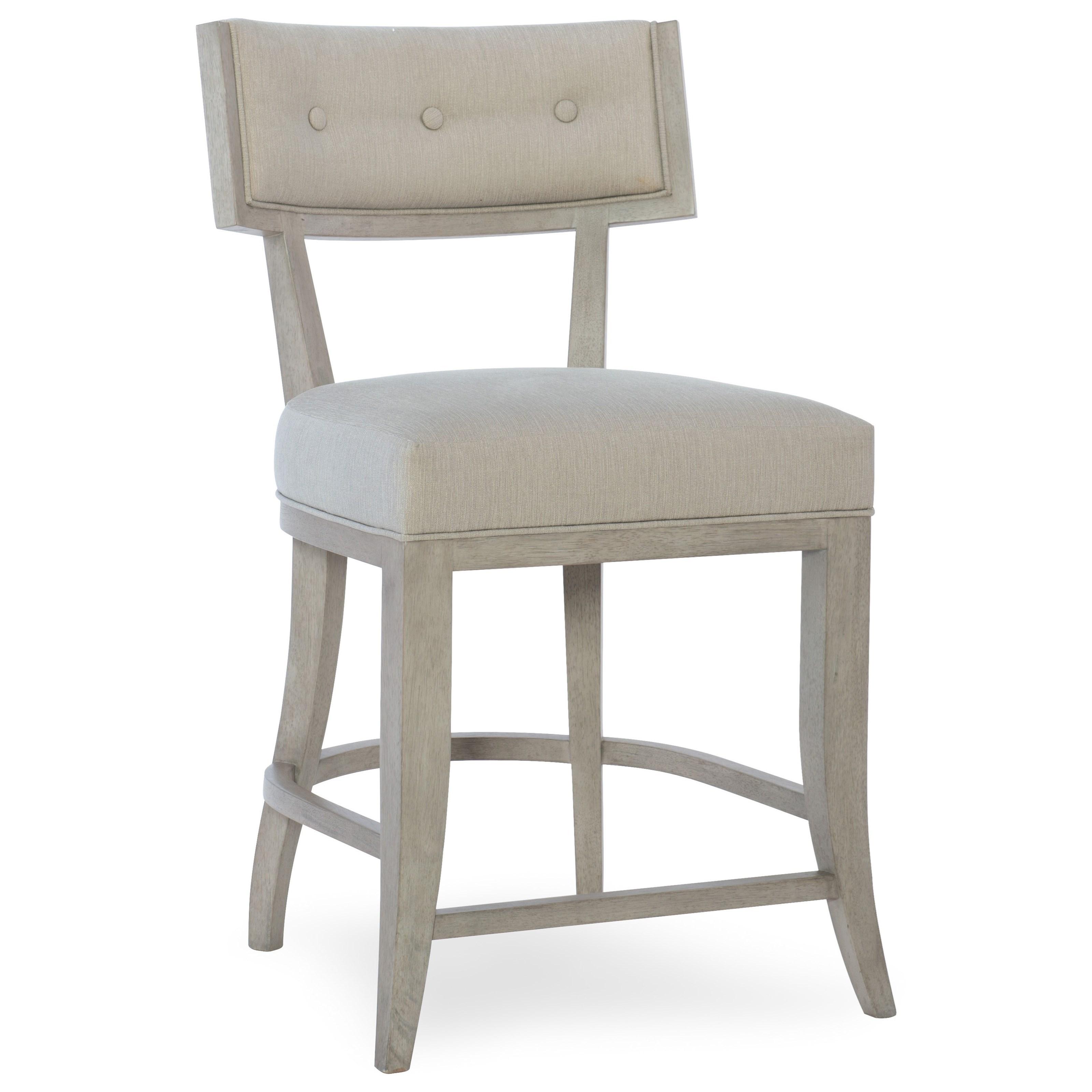 hooker furniture elixir klismos upholstered counter stool baeru0027s furniture bar stools