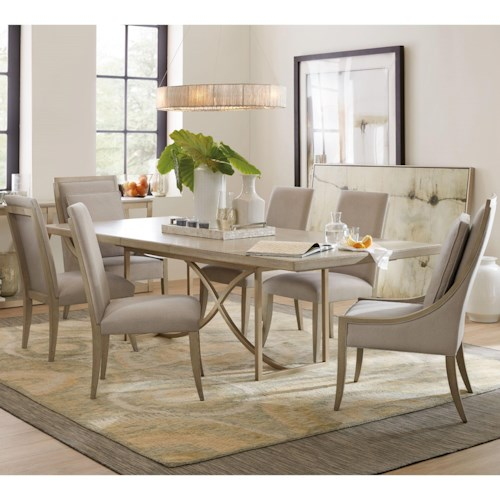 Hooker Furniture Elixir 7 Piece Dining Set with Host Chairs