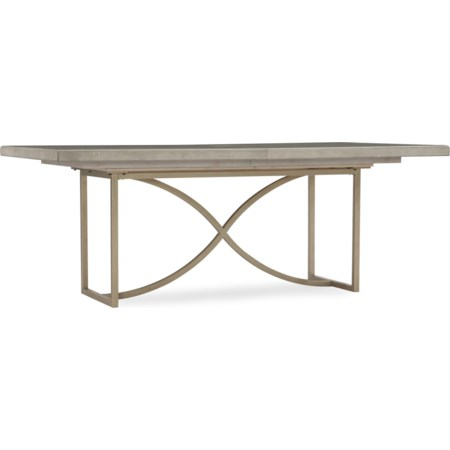 80in Rectangular Dining Table with 20in Leaf