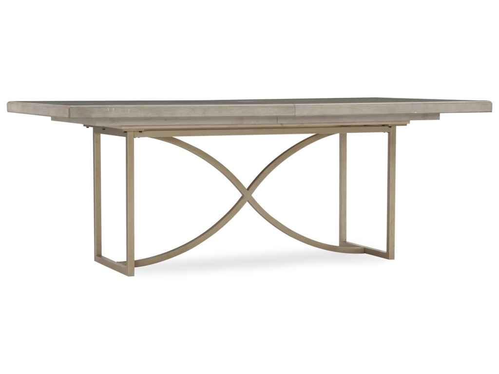 Hooker Furniture Elixir80in Rectangular Dining Table with 20in Leaf