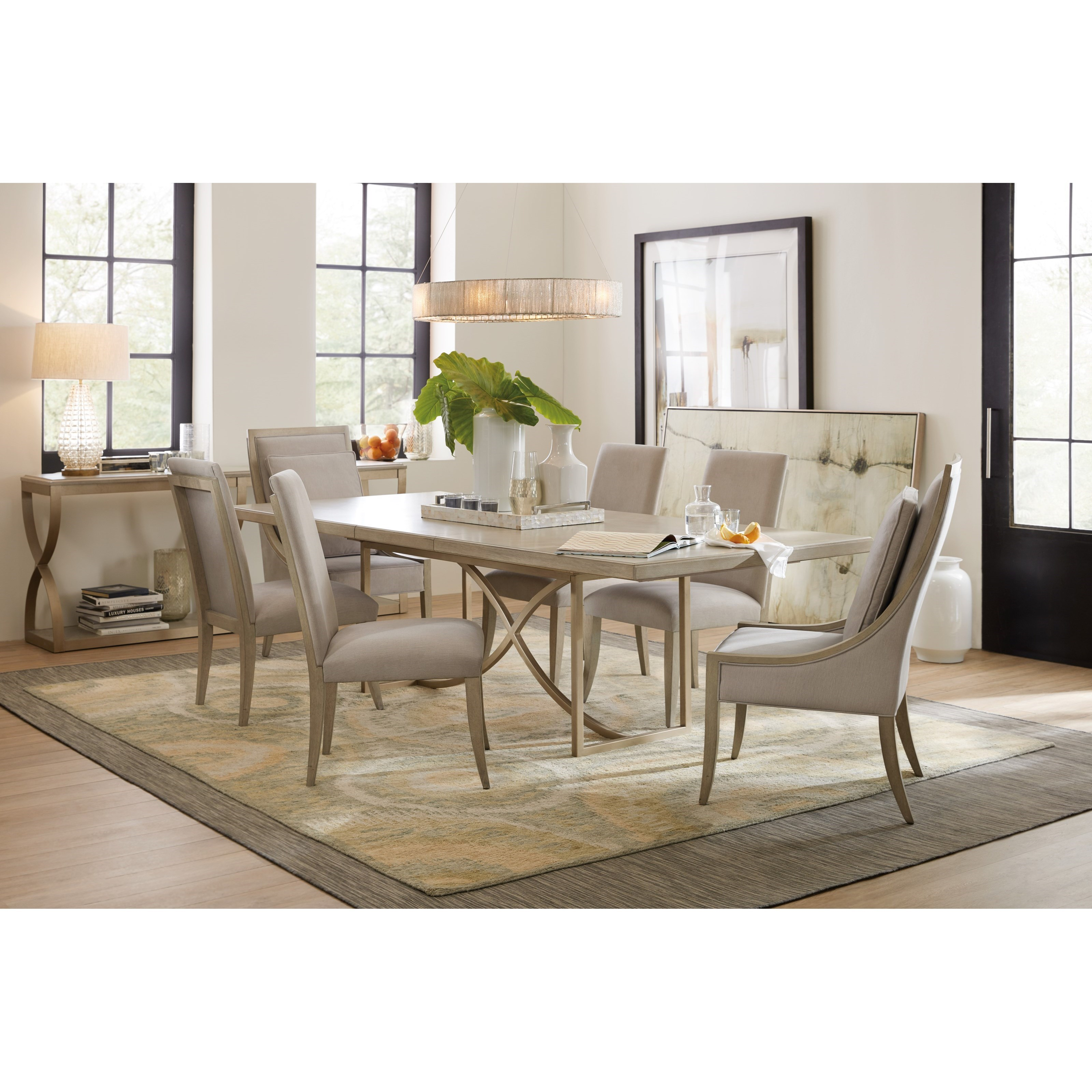 ... Hooker Furniture Elixir80in Rectangular Dining Table With 20in Leaf