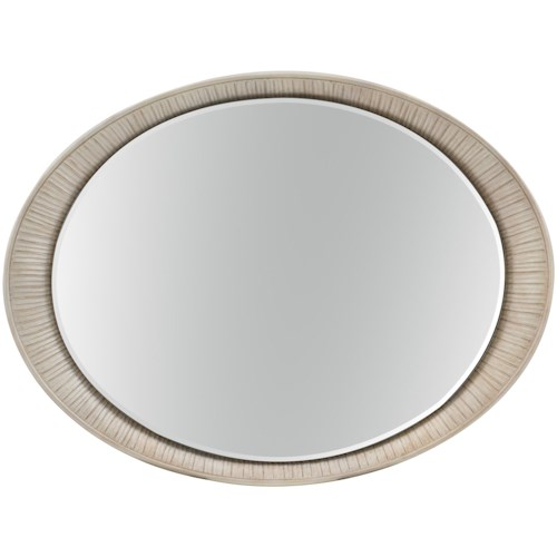 Hooker Furniture Elixir Oval Accent Mirror with Carved Frame