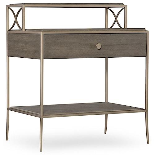 Hooker Furniture Elixir Leg Nightstand with Metal Frame