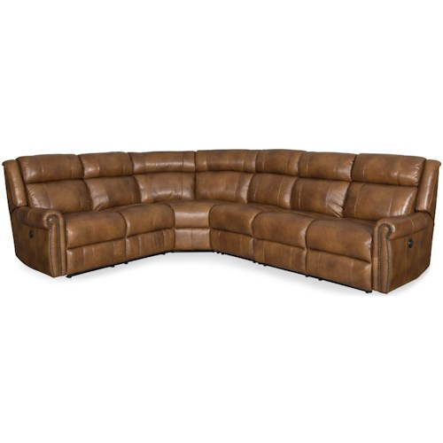 Hooker Furniture Esme Power Reclining Sectional with Rolled Arms